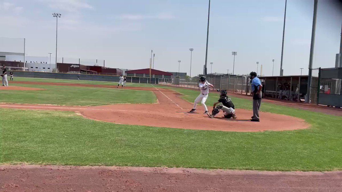 Image for the Tweet beginning: 2 out rbi single to