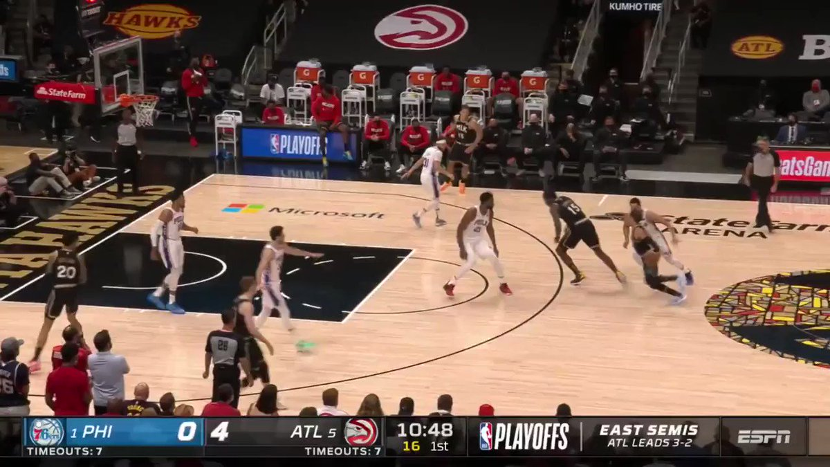 Trae filled it 🆙 once again, dropping 50+ FPTS for the 4th time in the series.  34 PTS - 12 AST - 5 REB - 63 FPTS https://t.co/16dXS1W0ib