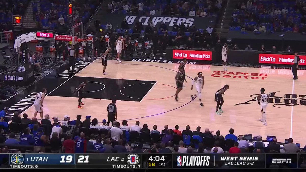 Spida and Clarkson rack up 43 PTS and 65.7 FPTS by the halftime break in Game 6 🤯  @utahjazz up 22 on ESPN. https://t.co/4gP6N9KKSm