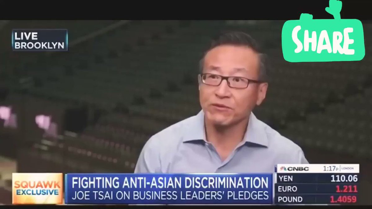 CNBC DELETED this part of its interview with Joe Tsai, a Taiwanese businessman, co-founder of Alibaba, owner of the Mets, was cut because Tsai's comments on China & Hong Kong Riots did not align with CNBC's anti-China narrative; see the full clip here   https://t.co/k0FlgLugpP https://t.co/8wuKoqOvIj