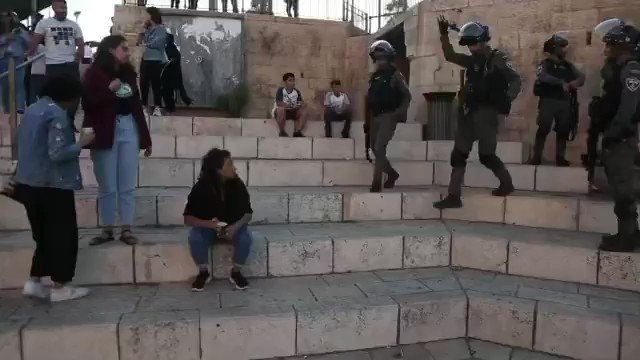 Heavily armed IDF soldiers man handling defenseless Palestinian women half their size   This is not oppression of women. This is just self defense. 🥴   https://t.co/2X1fMBfkUS