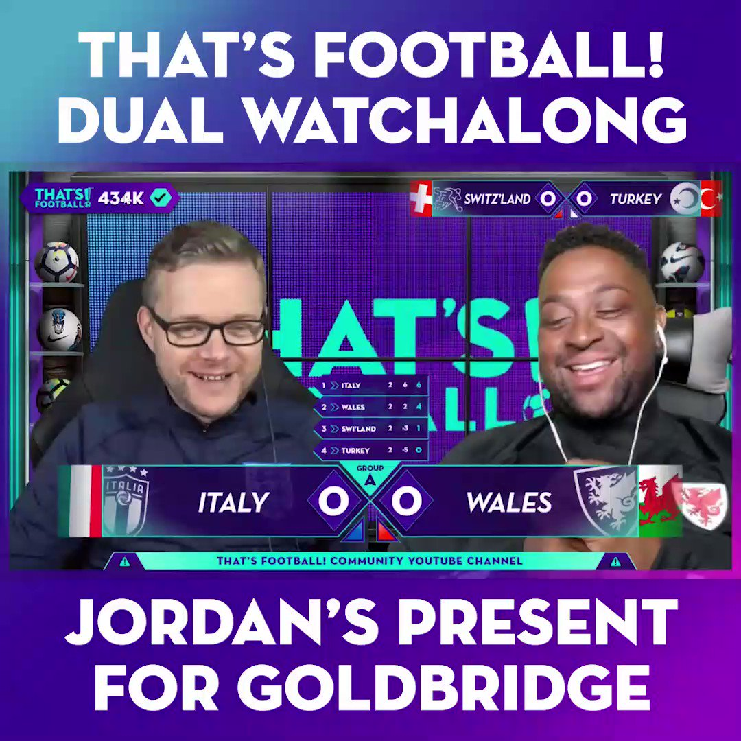 The look on Goldbridge's face at the end says it all 😂  Not even kick-off and @JordanValleys is bringing the HEAT 🔥  Watch live: https://t.co/v3yLSrYVHc https://t.co/talyvuXdgL