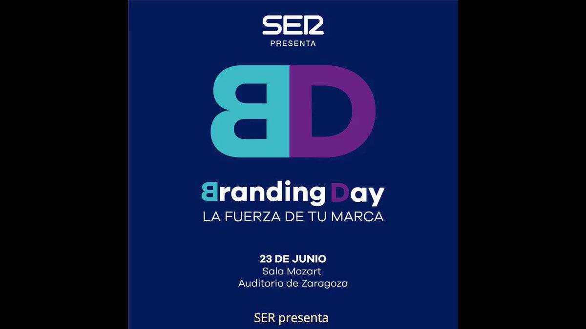 El boss del #Branding por fin en #Zaragoza. Que ganas de ver en directo en @BrandingDaySER a @AndyStalman. Contando las horas.