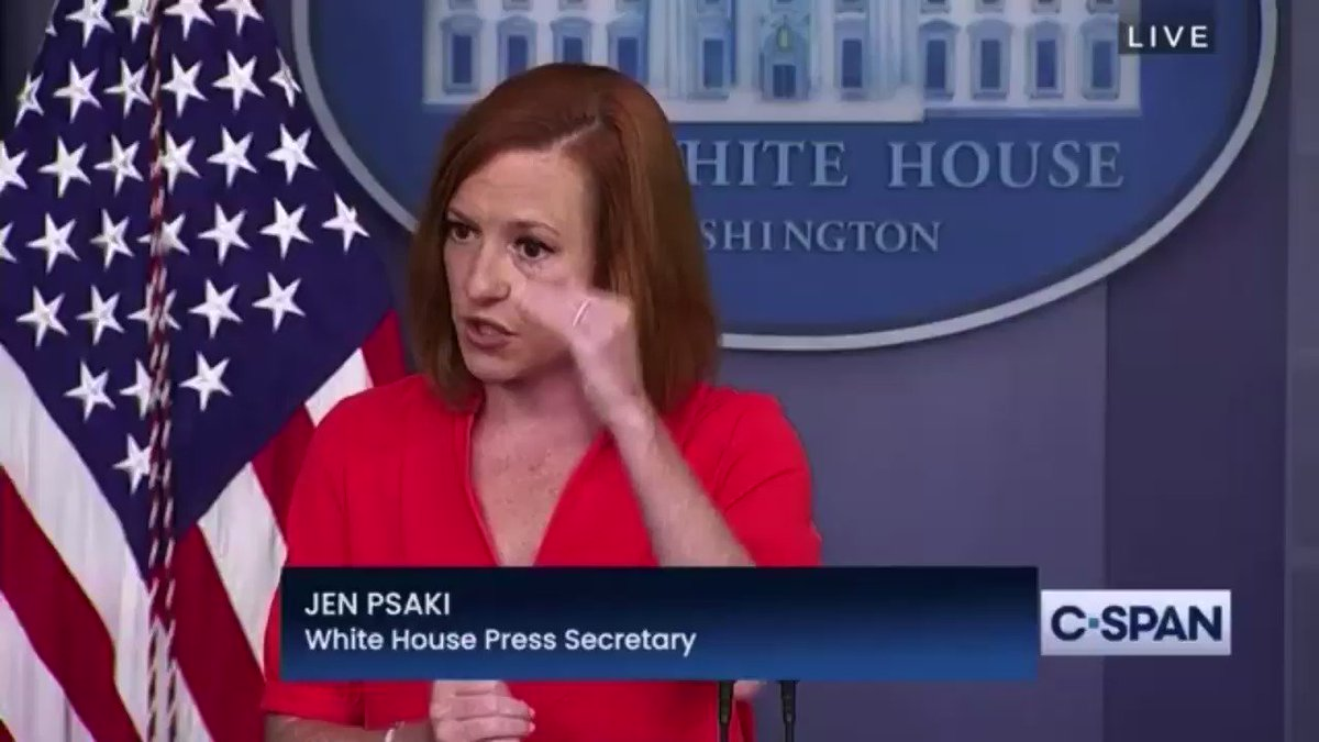 Reporter: I think there's a fly on your head Psaki: ...At least it's not a cicada https://t.co/x8U8pKp14z