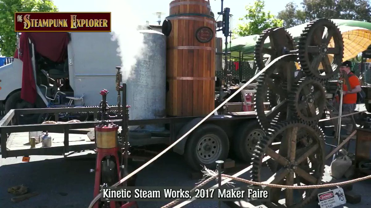 From the vault: Kinetic Steam Works and their steam-powered pencil sharpener at the 2017 Bay Area Maker Faire. @makerfaire #steampunk