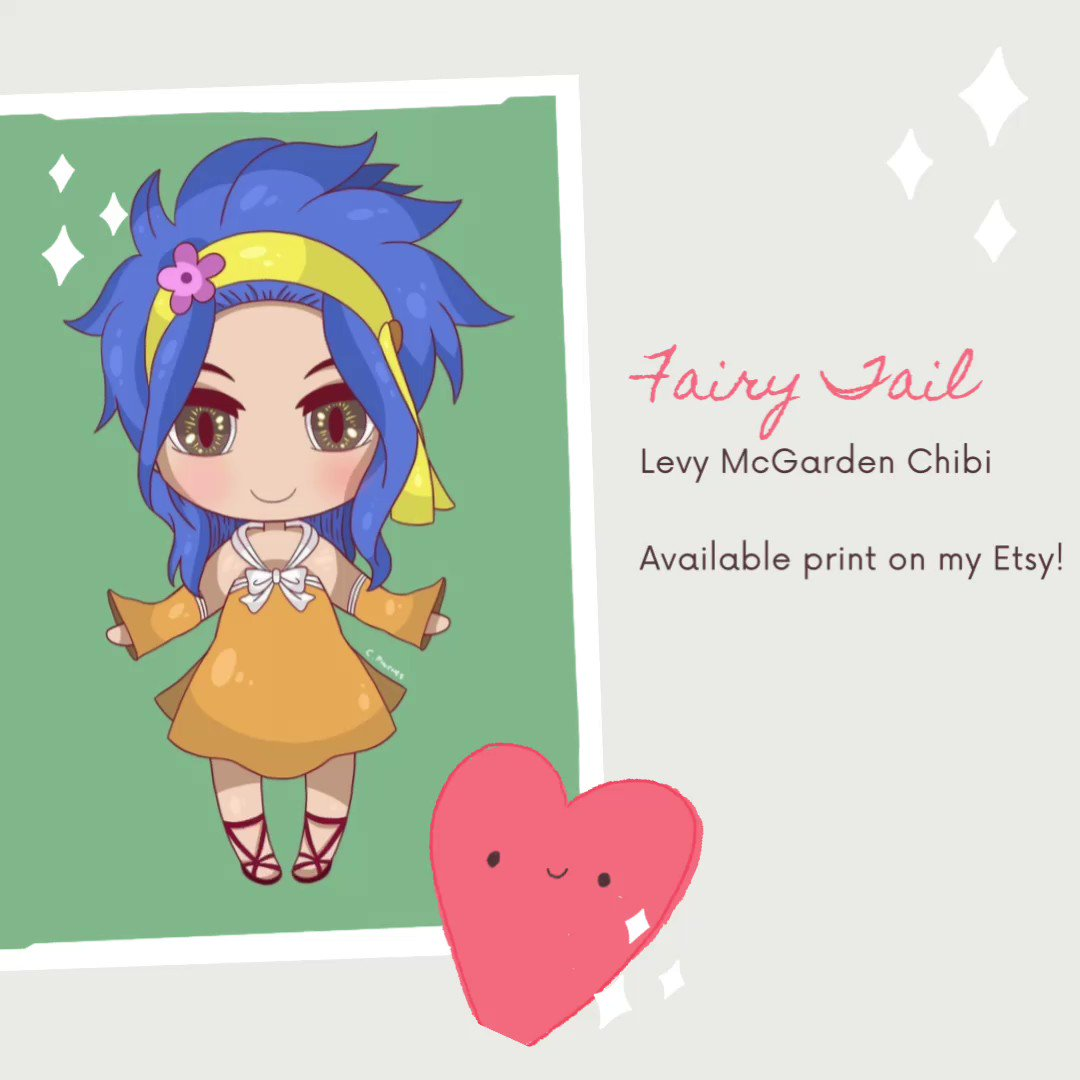 Chibi Levy available on my Etsy store! https://t.co/nZXhBdADIo  #fairytail #anime #manga #natsudragneel #lucyheartfilia #erzascarlet  #levymcgarden #gale #nalu #natsu #gruvia #chibi #cosplay #jerza #levy #animegirl #wendymarvell #wallart #FairyTail100YearsQuest #フェアリーテイル https://t.co/8vkWhv6CCO