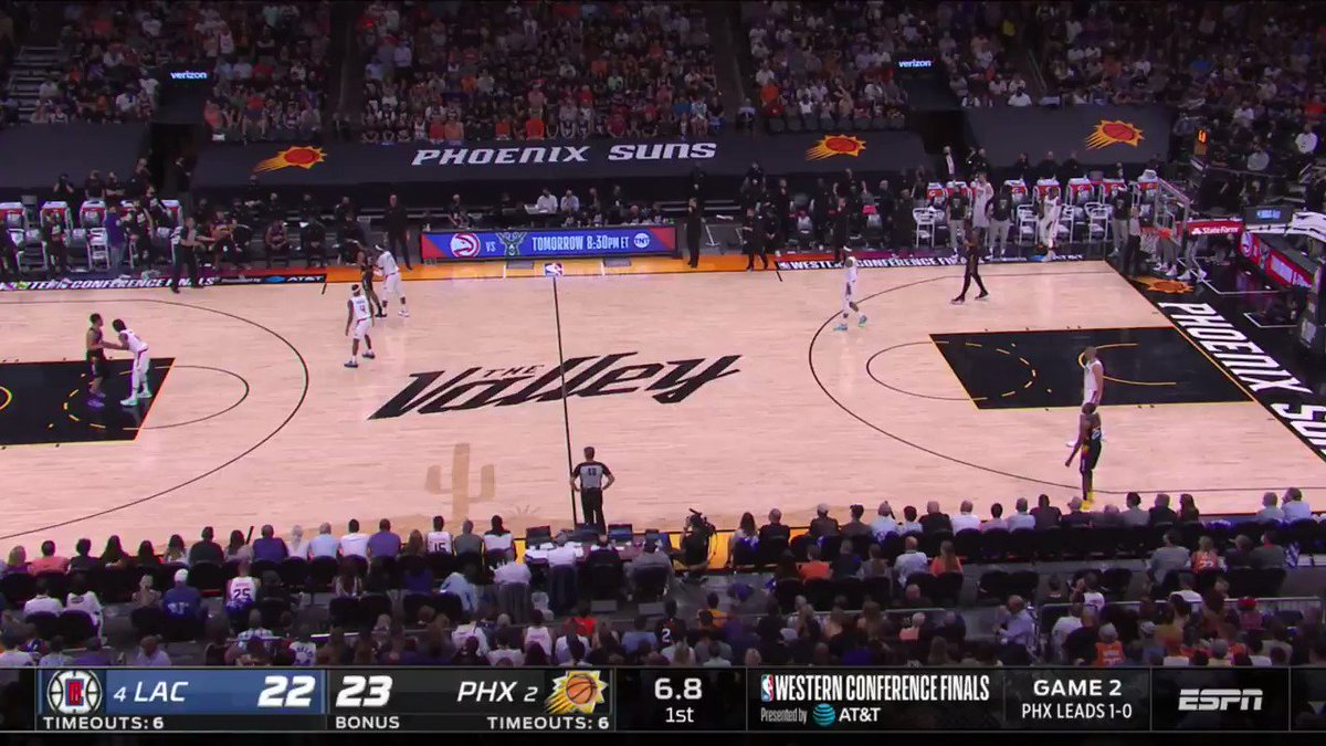Cam Payne attacks in transition by reaching a sprint speed of 16.7 mph, tracked by #NBACourtOptix powered by Microsoft Azure! https://t.co/hyXaXPT1s1