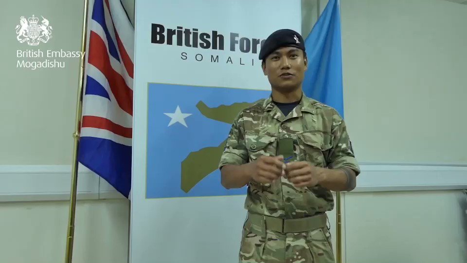 """""""In 🇸🇴, we are supporting the development of #Somali National Army through training, equipment & training facilities"""" LCPL Suman deployed in 🇸🇴  On #ArmedForcesDay, we honour the incredible work of the men & women in the armed forces community  @UKForcesSomalia  🇬🇧🇸🇴 https://t.co/RenC811VHx"""