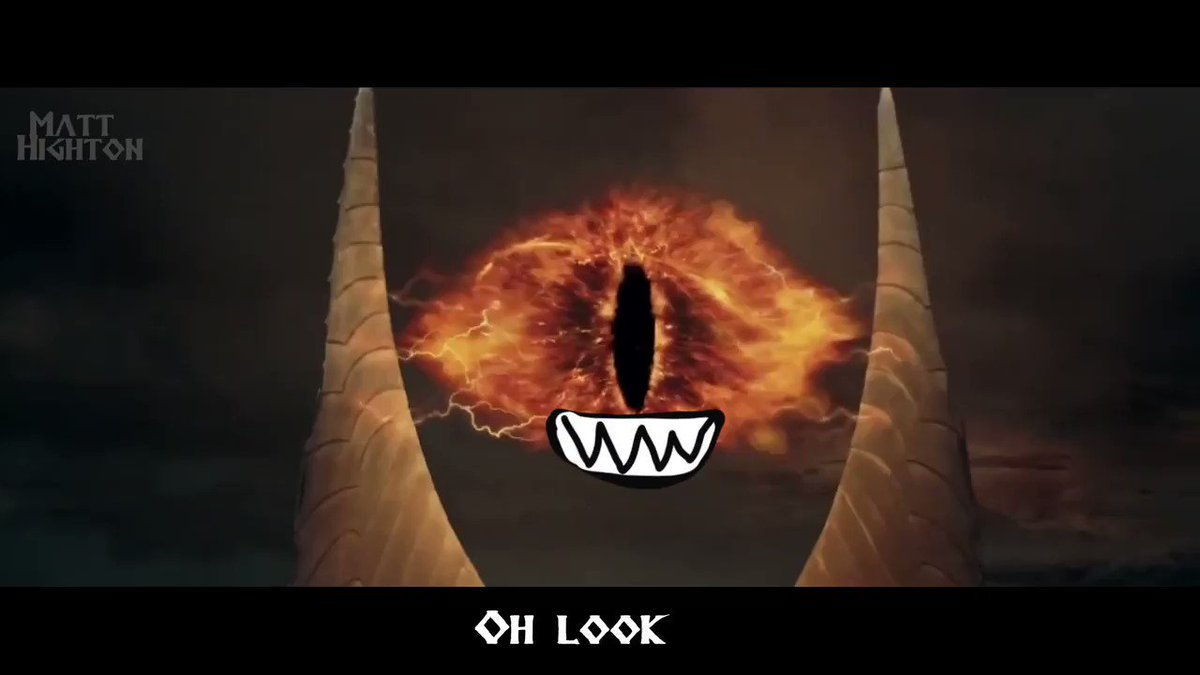 Lord of the Rings but the Eye of Sauron has a little mouth. https://t.co/XPzE6521HF