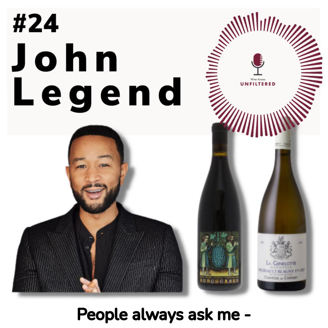 .@JohnLegend sat down with @WineAccessPod and talked about everything from the musicality and balance inherent in wine to innovative pairings of favorite foods. Learn about LVE wines directly from John on the @wineaccess podcast: https://t.co/Uaf1nM3pOx https://t.co/Fvt9IEJwp1