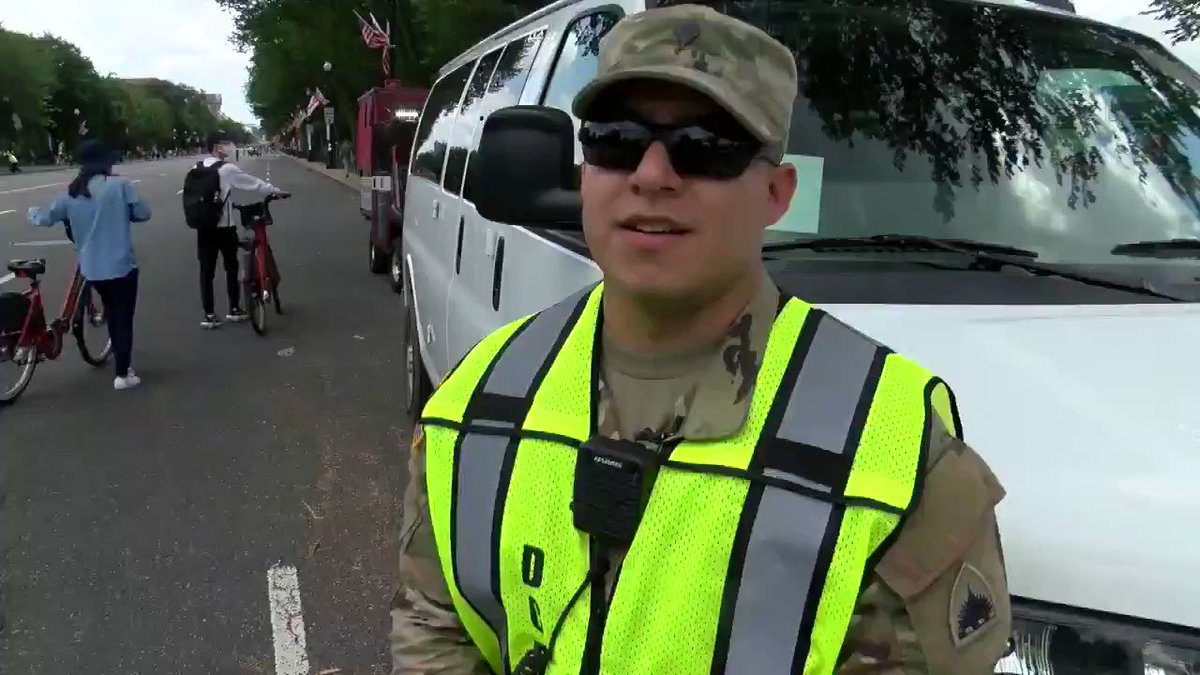 #Freedom. #Liberty. People coming together. That's what #FourthofJuly means to U.S. Army Spc. George Hill. Members of the D.C. National Guard take pride in supporting #IndependenceDay2021 celebrations. #DCNGstrong https://t.co/qjjQwhF89X