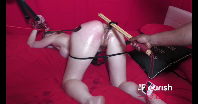 """NEW FETISH BDSM ⛓💣⛓ scene from our #bdsm channel @flourishfetish   """"Ophelia Kaan gets Anal Bondage in"""