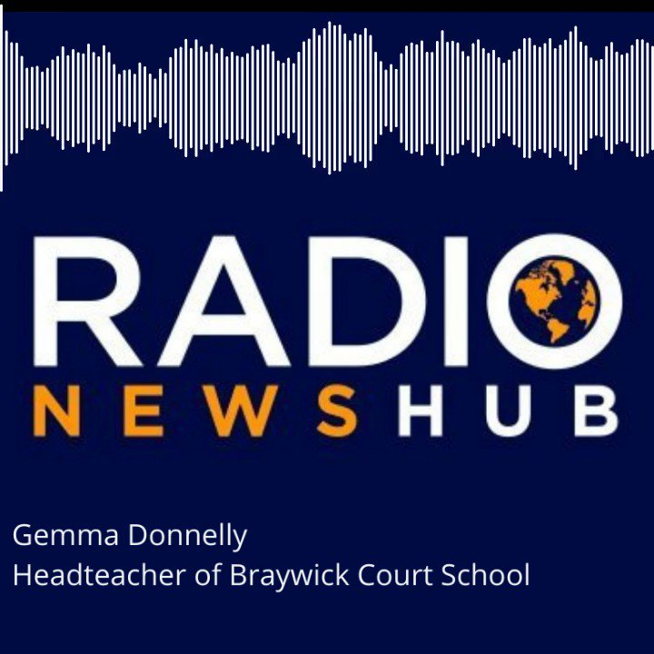 Mrs Donnelly talking to @radionewshub about the optional 10.30am arrival on Monday so pupils can share a moment of history with their families #euro2021final #ENG Staff will be available for those who need to attend breakfast club or arrive at normal time #ItsComingHome