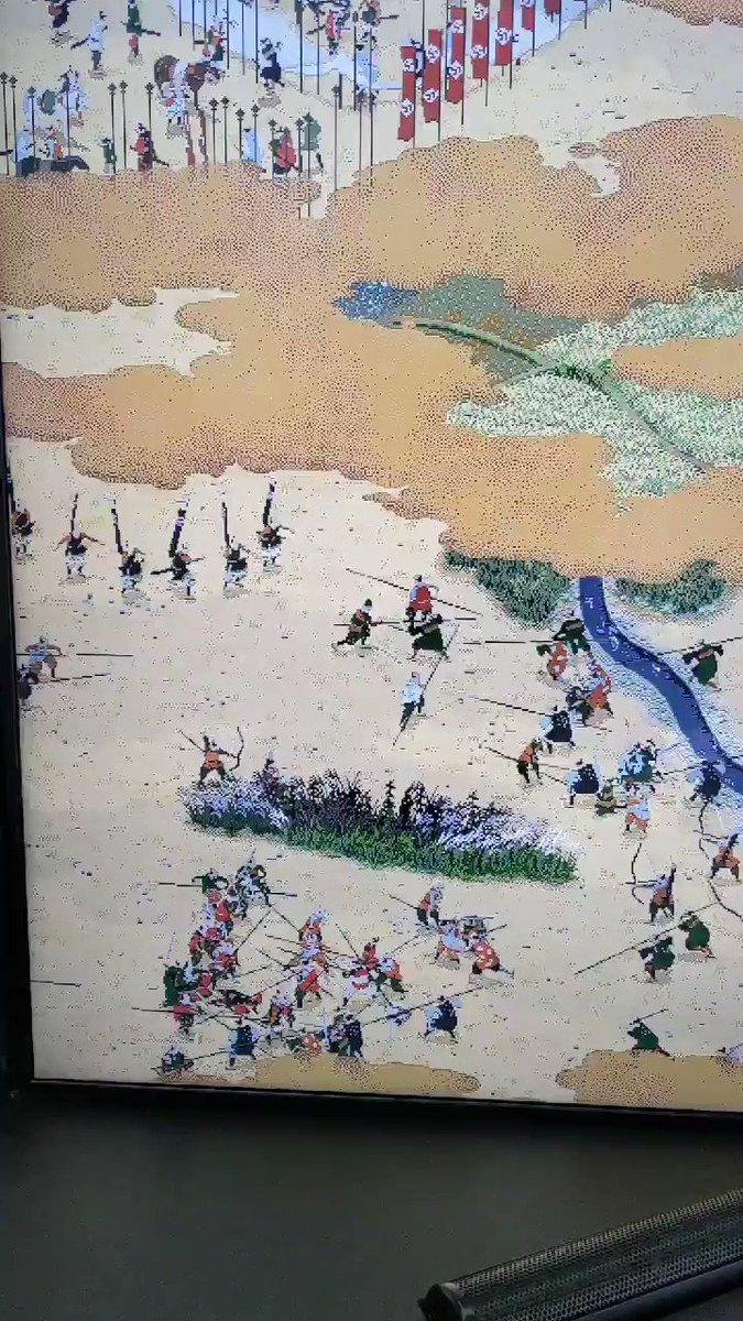 仙台から帰って来る娘を迎えにセントレアに。到着ロビーに飾ってある動く関ヶ原山水図屏風(500人が同時に動くらしい)が素晴らし過ぎて釘付けになってます