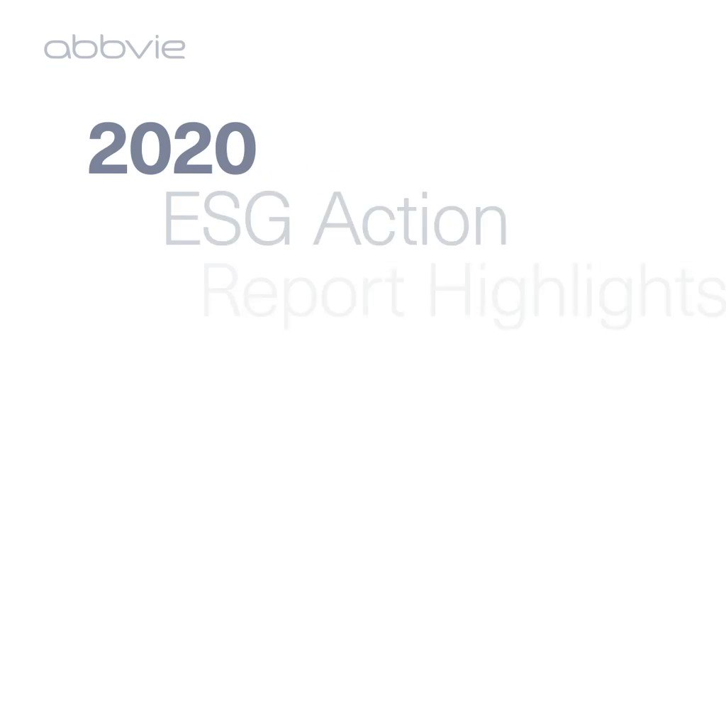 Just published: AbbVie's 2020 #ESG Action Report. Watch the highlights then see how we've progressed our environmental, social and governance approach in the full report at https://t.co/204y0Rqv93. https://t.co/A7uqbYW0VR
