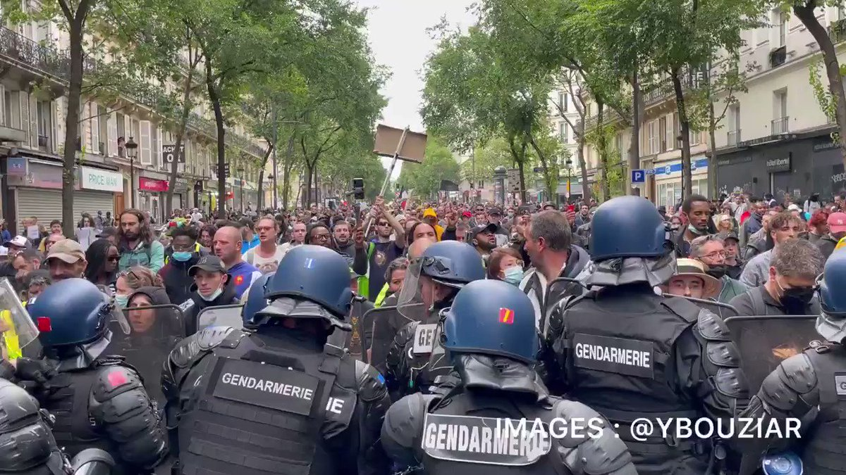 French Citizens Riot in Response to Plan to Mandate Vaccine Passports JvUS-Co4cM7esKhM