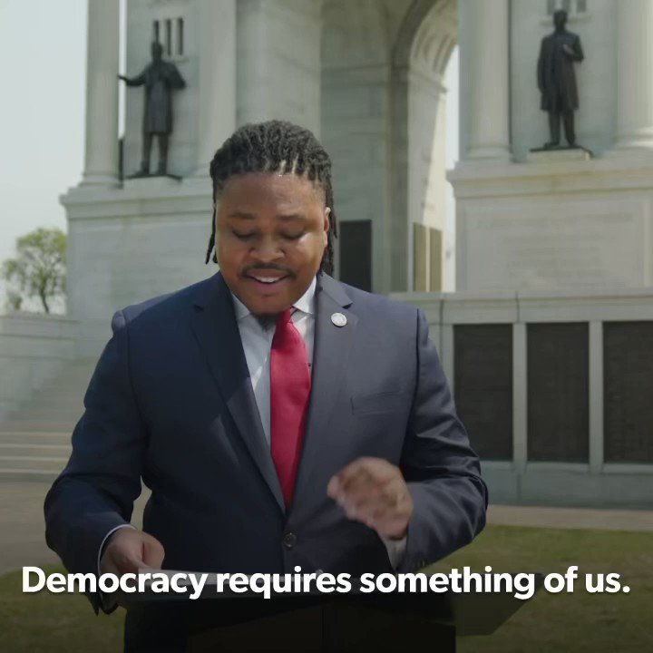 Democracy requires something of us now. In this fight, we must not grow weary. We must not give up. And most importantly, we must not fail. https://t.co/mgQ36TJqMu