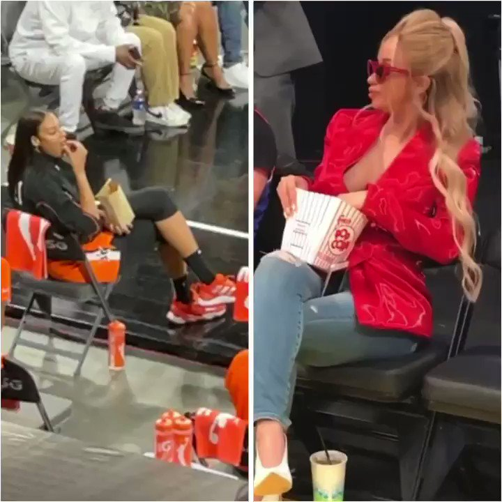 Who did courtside snacks better? @ecambage or @iamcardib? 😂 https://t.co/Pfx9rXak9d