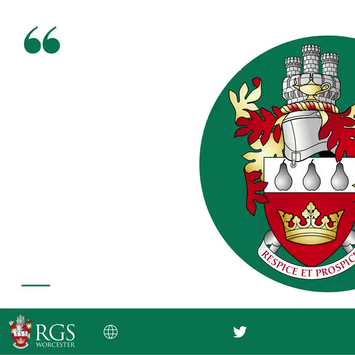 Image for the Tweet beginning: RGS Worcester is proud and