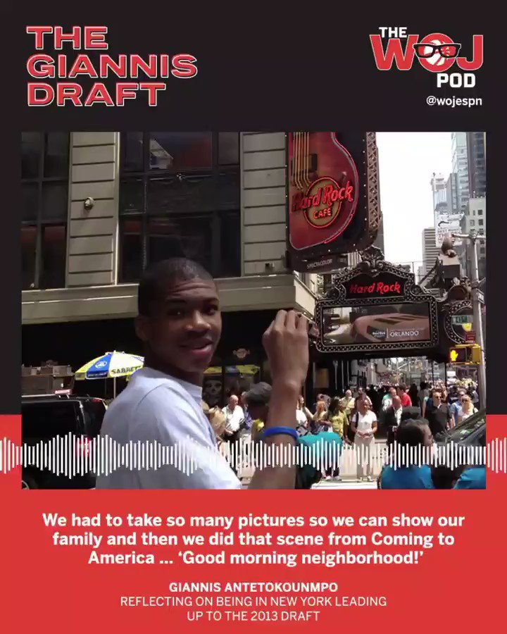 The Giannis Draft: The Woj Pod's 3-episode narrative podcast on the greatest NBA draft story ever told.🎧  Ep. 1: https://t.co/K8flkaD0DL Ep. 2: https://t.co/FJMErUhfvO Ep. 3: https://t.co/QGNAxAIMOk https://t.co/qugKDTf9Iy