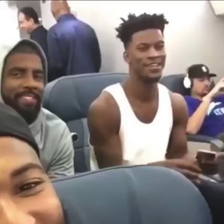 throwback to when kyrie and jimmy butler sang a thousand miles on the team usa plane 😂😂#nba #TeamUSA #kyrie #jimmybutler #BrooklynTogether https://t.co/A10s4TsWCf