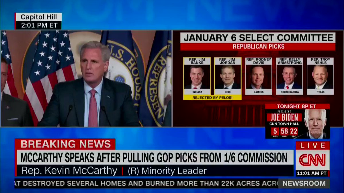 Kevin McCarthy says that Republicans will run their own investigation into the insurrection instigated by the leader of their party https://t.co/SkclfTS3hg
