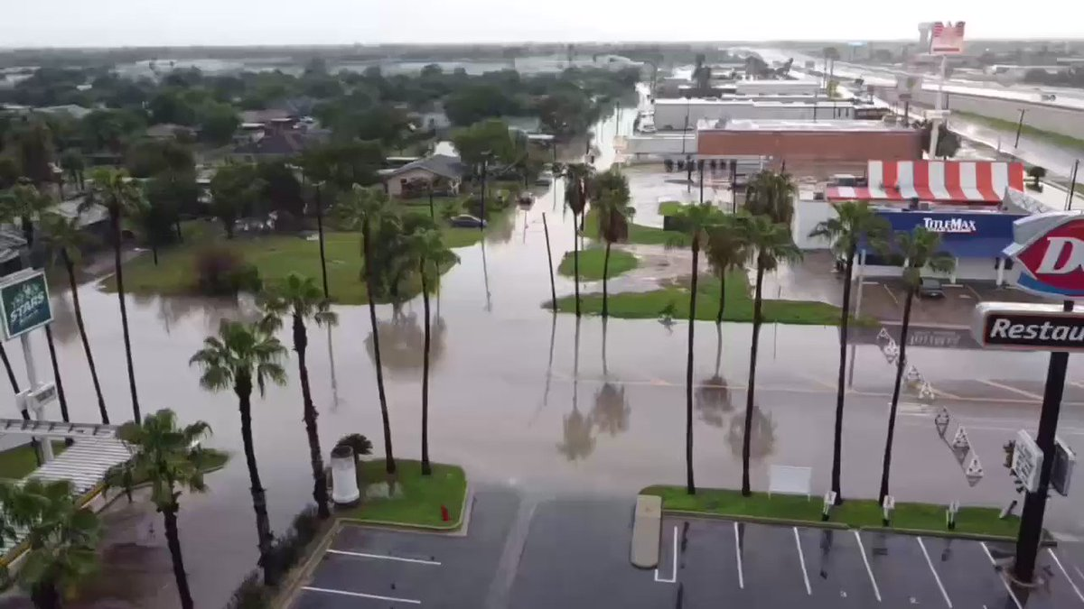 This is my hometown of La Feria, TX. Flooding like this happens ALL over the #RGV every damn year. Property damage, mosquito booms, damage to infrastructure, all happens ON THE REG - yet @GregAbbott_TX would rather build a racist wall than address the real issues in the State. https://t.co/tPOUePl8h8
