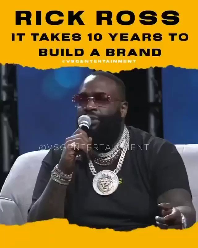 The homie @RickRoss was talking them facts ‼️ Took me 10+ Years to build my brand, no handouts. Thanks for sharing this @FineAhhChef https://t.co/yc5SMwywY2