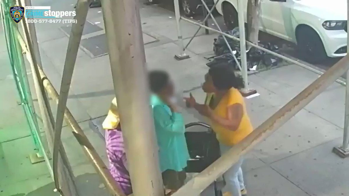Recognize them? A 61-year-old woman using a walker was violently robbed by a group on a Harlem street. Video shows the victim pushed to the ground and attacked -- one of the suspects using a pot to hit her.   Full story: https://t.co/Lsh2o9ZTGC https://t.co/xUul0oB73I