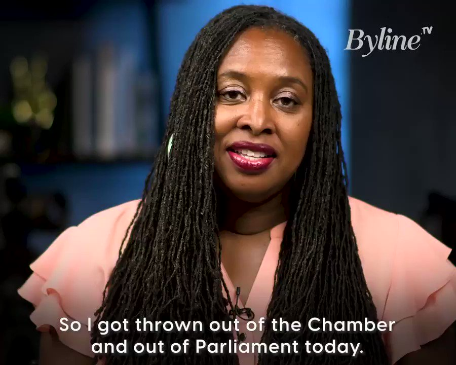 Here it is, everyone.   @DawnButlerBrent's exclusive statement for Byline TV on today's events in Parliament.  She called Boris Johnson a liar and was thrown out for it - but decided it had to be done to highlight the erosion of our democracy. https://t.co/dqTBjutKSR