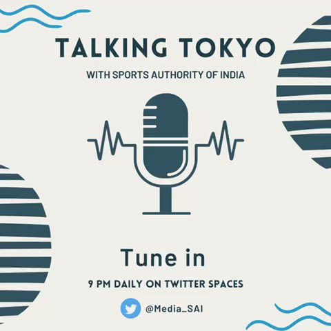 The much-awaited #Tokyo2020  has begun. Join us at 9 pm IST on #TalkingTokyo where we discuss #IndiaAtTokyo2020  Engage with experts, former Olympians, celebrities, coaches, and fans in casual, candid conversations only on Twitter Spaces via https://t.co/fFc7Y5AWwM  #Cheer4India https://t.co/QCkrBqIbxY