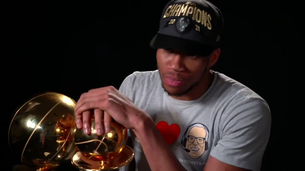"""From the cutting room floor of our @SportsCenter convo: Giannis discusses this moment Suns coach Monty Williams. """"I had the people stop the music and stop the champagne… I told him, 'I feel like there's a good chance we might running back next year.' More: https://t.co/GizGXOyuPj https://t.co/YjuFhbDES7"""