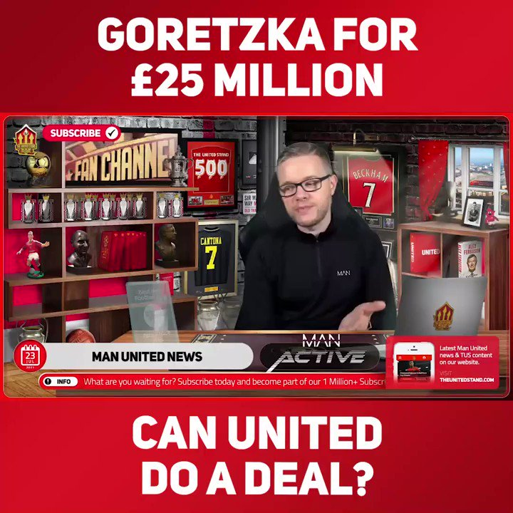 """""""THERE MIGHT BE A DEAL THIS SUMMER""""  @markgoldbridge says that the Goretzka rumours are there to gather interest and get a new contract at Bayern, however for £25 million he would be an absolute steal! 🔥   Join ➡️ https://t.co/fofX3MXoUG https://t.co/HLBwDd5gue"""
