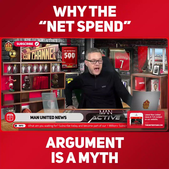 """""""WE CAN'T SELL OUR DEADWOOD!""""  @markgoldbridge debunks the """"net spend"""" myth, says it's only so high because United are terrible at selling players compared to Premier League rivals.  Join ➡️ https://t.co/fofX3MXoUG https://t.co/lTK1mj1DXw"""