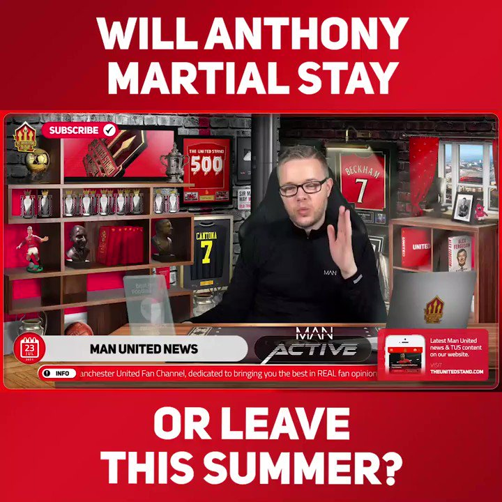 """""""HE'S UNSELLABLE UNLESS HE WANTS TO GO!""""  @markgoldbridge thinks United won't sell Anthony Martial this season, due to his value dropping after a poor last year. But what do you think, does he stay or go? 👇   Full ➡️ https://t.co/fofX3MXoUG https://t.co/m0mDdWkF44"""
