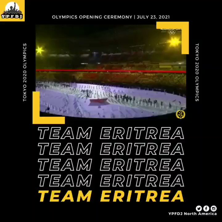 Olympics Opening Ceremony!   Wishing #TeamEritrea all the best during this historical time. We're proud of you Deki Erey!   Let the games begin! 💪🏾🇪🇷  #TeamEritrea #Tokyo2020 #Olympics2021 #StrongerTogether #Olympics #EritreaPrevails #Eritrea #Africa https://t.co/GXMo9qyY9M