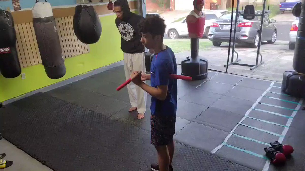 After Zae's workout he reviews his nunchaku combinations ⚔  #PTTKD #MartialArts #Taekwondo #Boxing #Fitness #Workout #Exercise #Discipline #Lifestyle #SanAntonio #Kids #Teens #Adults https://t.co/cUuMePq8MW