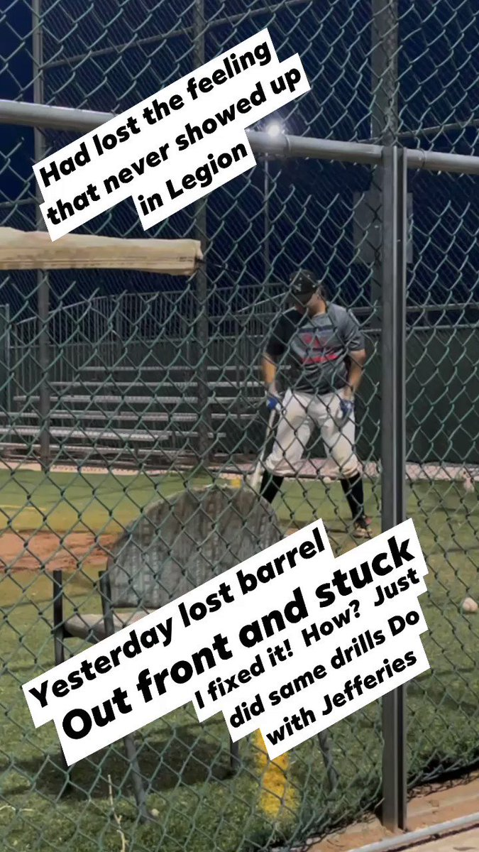 #FridayFeeling #baseball practice at SN.  I got in some bad habits during #Legion season.  I went into low maintenance mode!  Practiced a lot of #Catching drills but did not maintain my swing!  April I learned to use the barrel.  I am finding that backspin power swing again. https://t.co/3X0JDuLOAp
