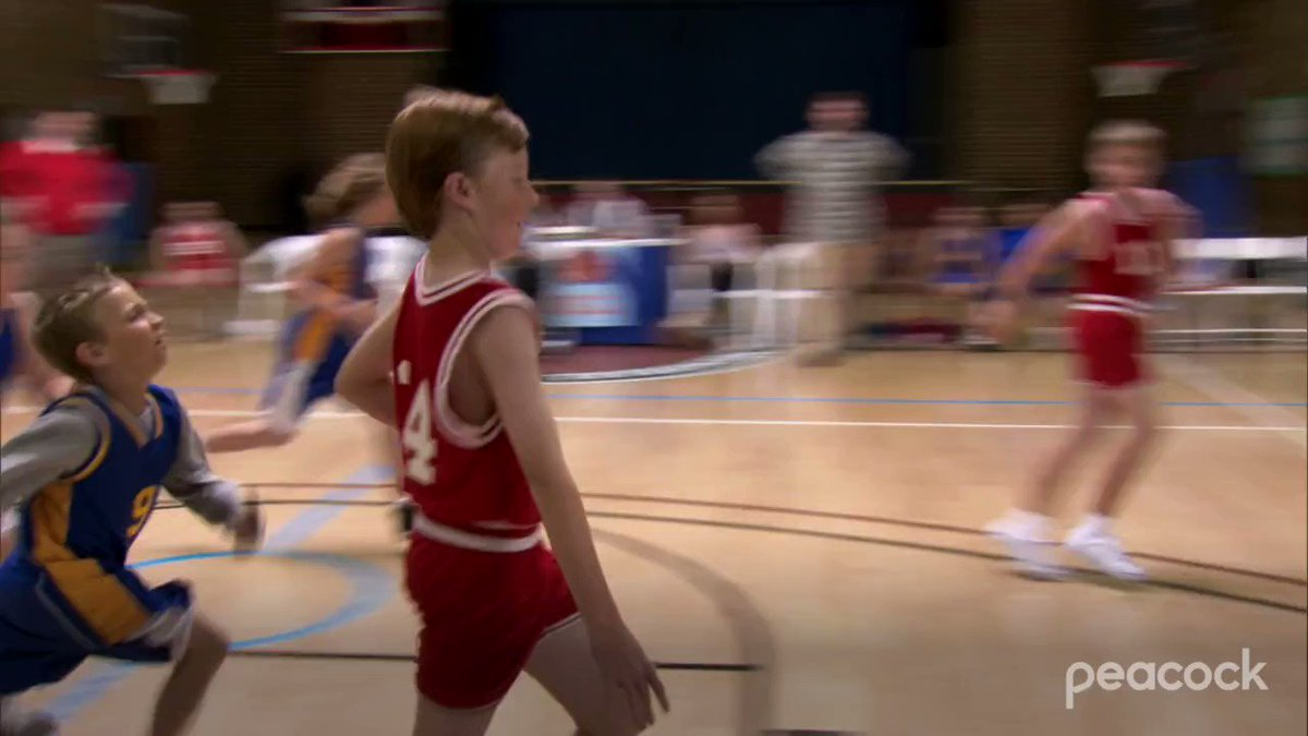 """We'd like to see Tom Haverford try and eject Kevin Durant or Damian Lillard for """"roughing the passer"""" 😂  The US Men's Basketball Team begins its quest for gold tomorrow at 8 AM ET on Peacock: https://t.co/WrZqL58GtN https://t.co/BMHKbjHbMZ"""