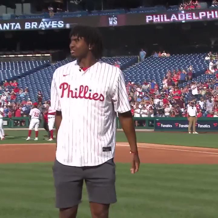 ring that bell, @Phillies 🔔  @TyreseMaxey   #BrotherlyLove https://t.co/ajEJg4bD0b