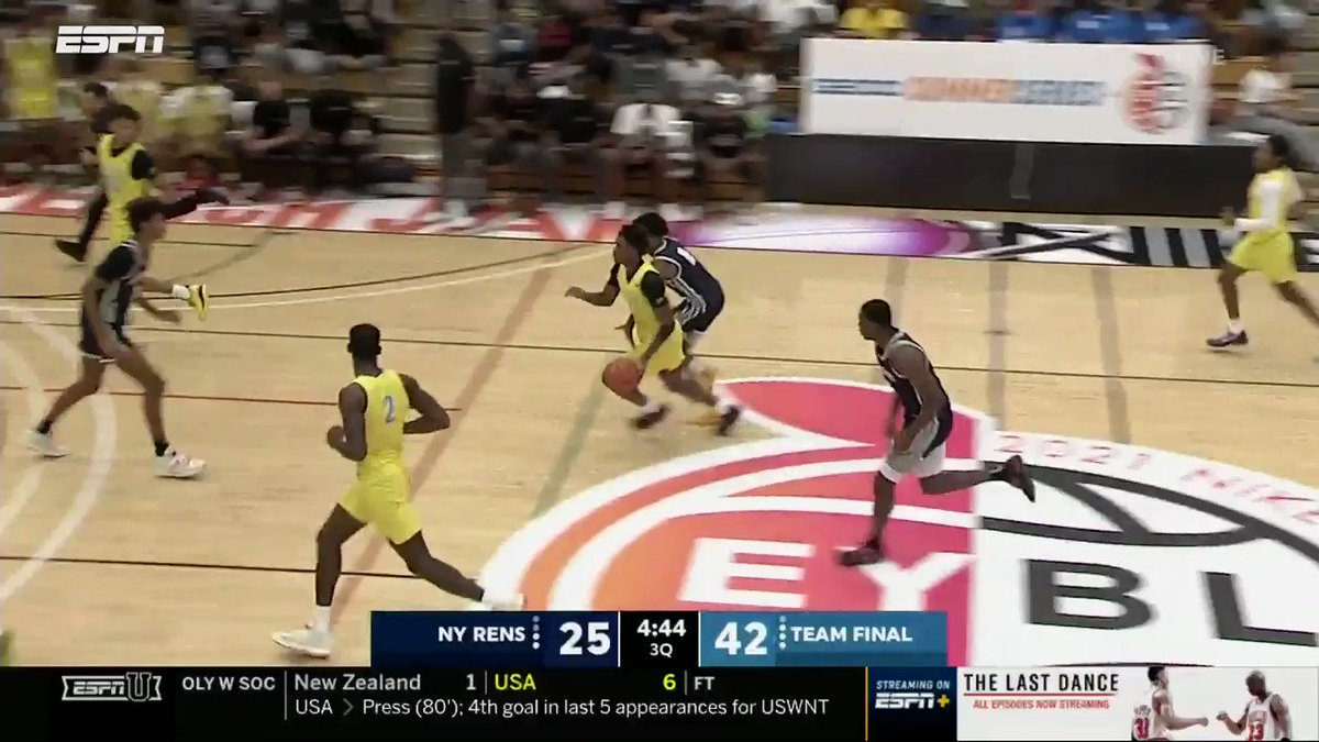 OH MY LIVELY!   5 🌟 C Dereck Lively (#10 in the ESPN 100) displaying that high-energy motor in the third quarter 💪  @dereckl41 @PaulBiancardi @NikeEYB https://t.co/l1rQkvPBWg