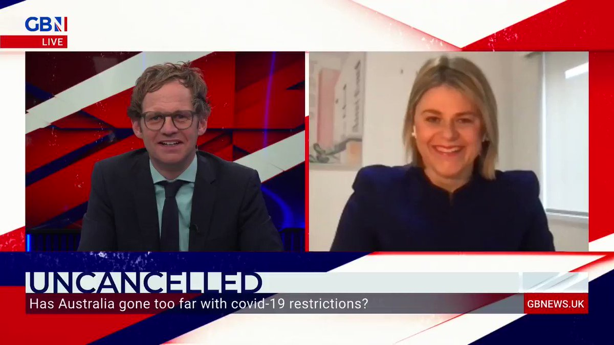 'Can you believe the nonsense down here?!'  Sophie Elsworth, from The Australian, tells Mark Dolan parts of Australia are now in their fifth lockdown.  Watch GB News on Sky 515. https://t.co/YLcnQGH57o