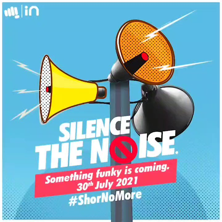 It's time to silence the noise, time to feel the funky rhythm. Watch this space for some news your ears will love. Watch this space on 30.07.2021 #ShorNoMore #AbIndiaChaleNonStop https://t.co/mc4YFvOSLB