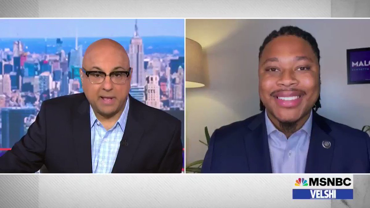 """""""When we vote, they lose,"""" says @RepKenyatta about the sinister Republicans working overtime to make voting harder. """"That is why they have been so committed, so passionate in eroding people's faith in the election and trying to throw up roadblocks."""" #velshi https://t.co/nptsz2wl7b"""