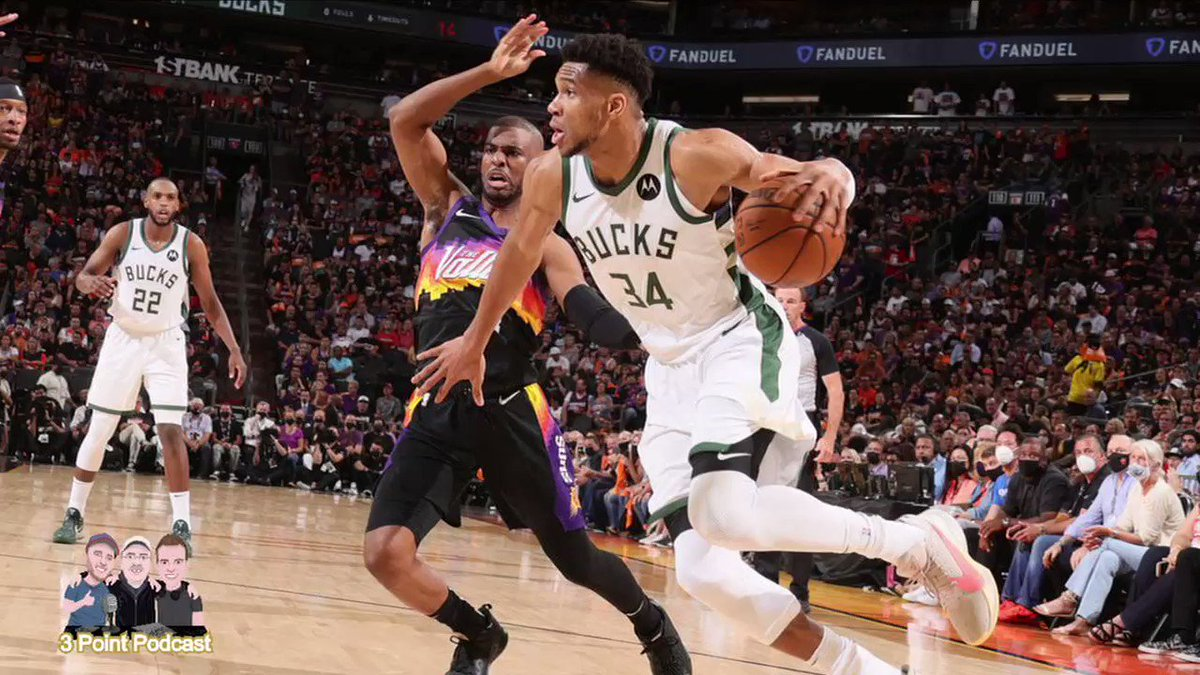 It's been a few days since Giannis and the #Bucks downed the #Suns, winning the title. On the last #podcast we talked about the #NBAFinals, including CP3 letting another series lead slip away. Take a listen to this clip and the pod for the full chat. #FearTheDeer #PodernFamily https://t.co/Imjpda3q8Q