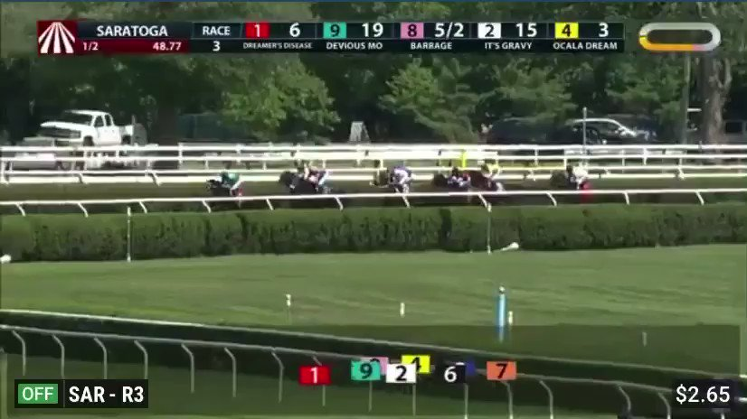 STEP DANCER wins the NY STALLION SERIES, CAB CALLOWAY STAKES in a bold stretch run.