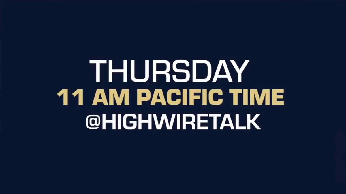 Image for the Tweet beginning: Don't miss The HighWire TOMORROW,