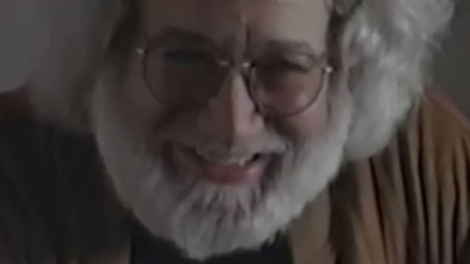 Happy birthday, Jerry Garcia.  Here are 16 seconds of his beautiful laughter. Miss him every day.