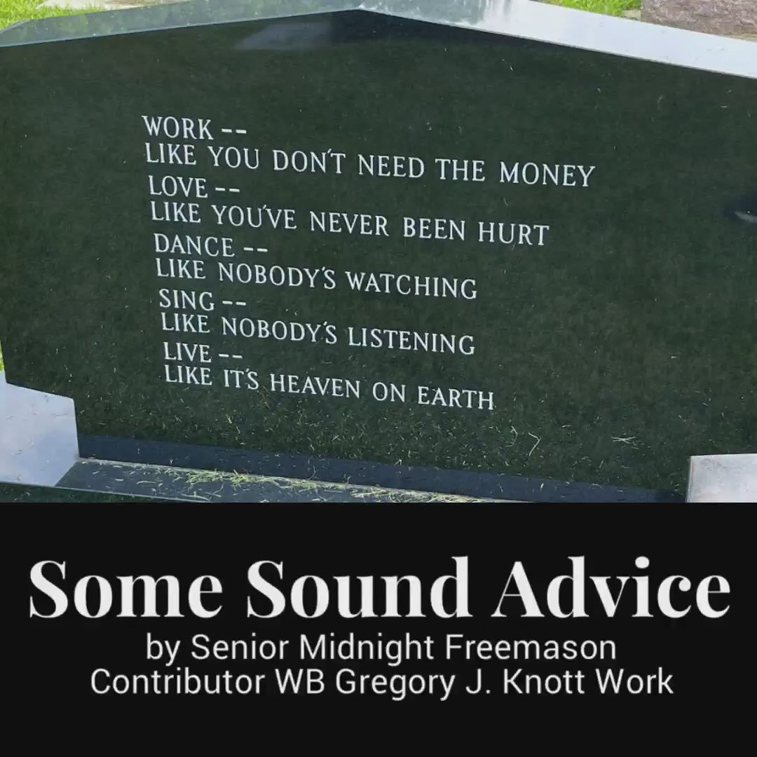 Image for the Tweet beginning: Some Sound Advice by Senior Midnight