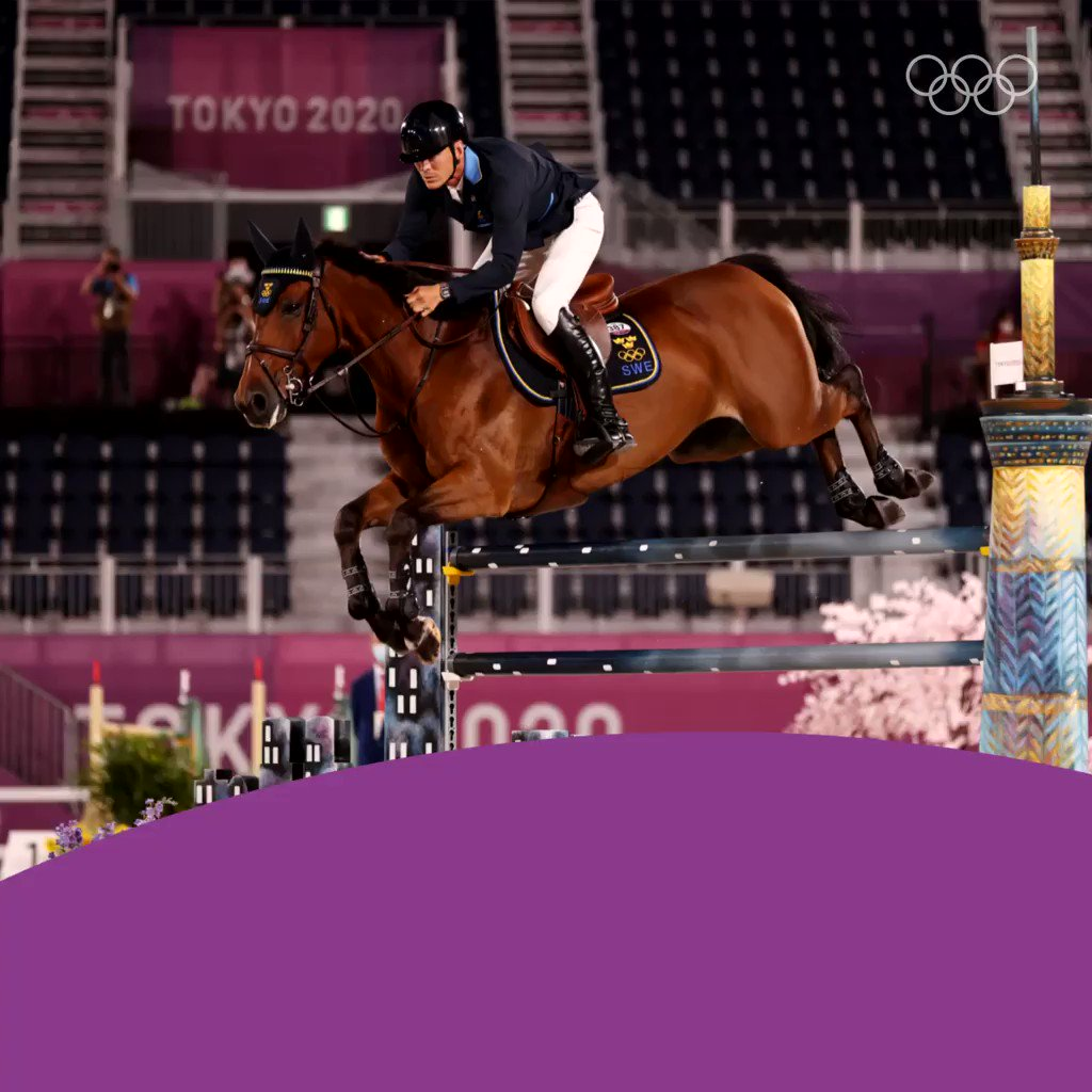 The @SWEOlympic #Tokyo2020 dream continues! We got another 🥈! Huge applause for #EquestrianJumpinggeniusPeder Fredricson and All In! 👏 🐎 👏 Congratulations from Team 🇸🇪! #SWE #OlympiskaSpelen #HejaSverige @tokyo2020 @olympics #Silver @FEI_Global  #StrongerTogether